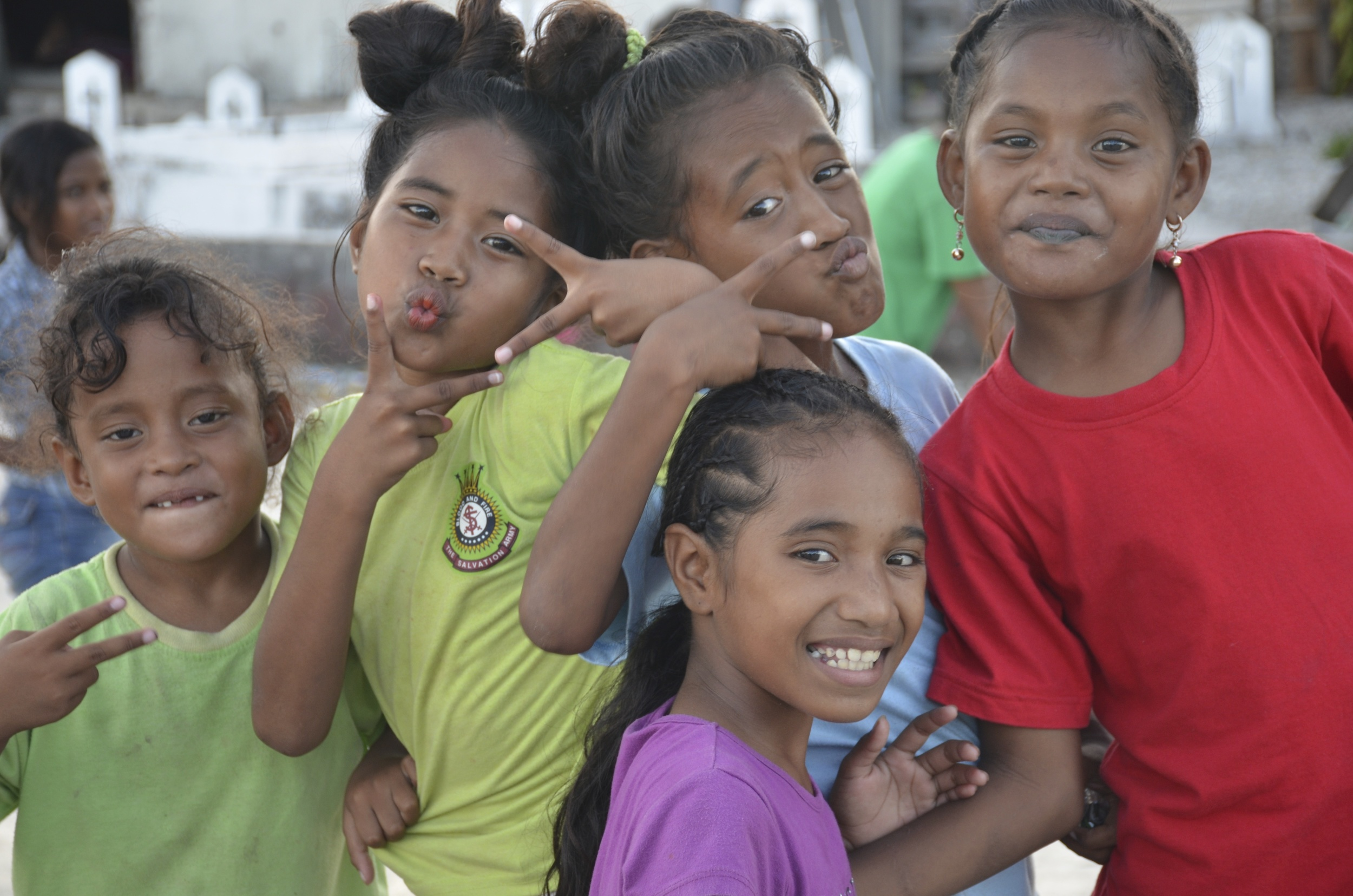 It's impossible to get Marshallese kids to act naturally in front of a camera.