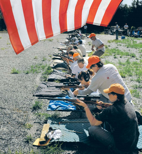 Several dozen people attended an Appleseed Project shoot in Buckingham County, Va., o n Saturday, April 17, 2010.  This was one of 100 Appleseed shoots held around the country last weekend.  Photo by Michael S. Williamson (The Washington Post)