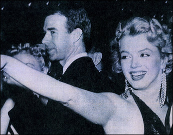 George Austin Hay, left, chatted with Marilyn Monroe at an Actors' Equity party in New York. Courtesy of the Federal Highway Administration.