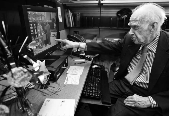 George Austin Hay at this desk at the Department of Transportation. (Photo by Xiaomei Chen for The Washington Post)
