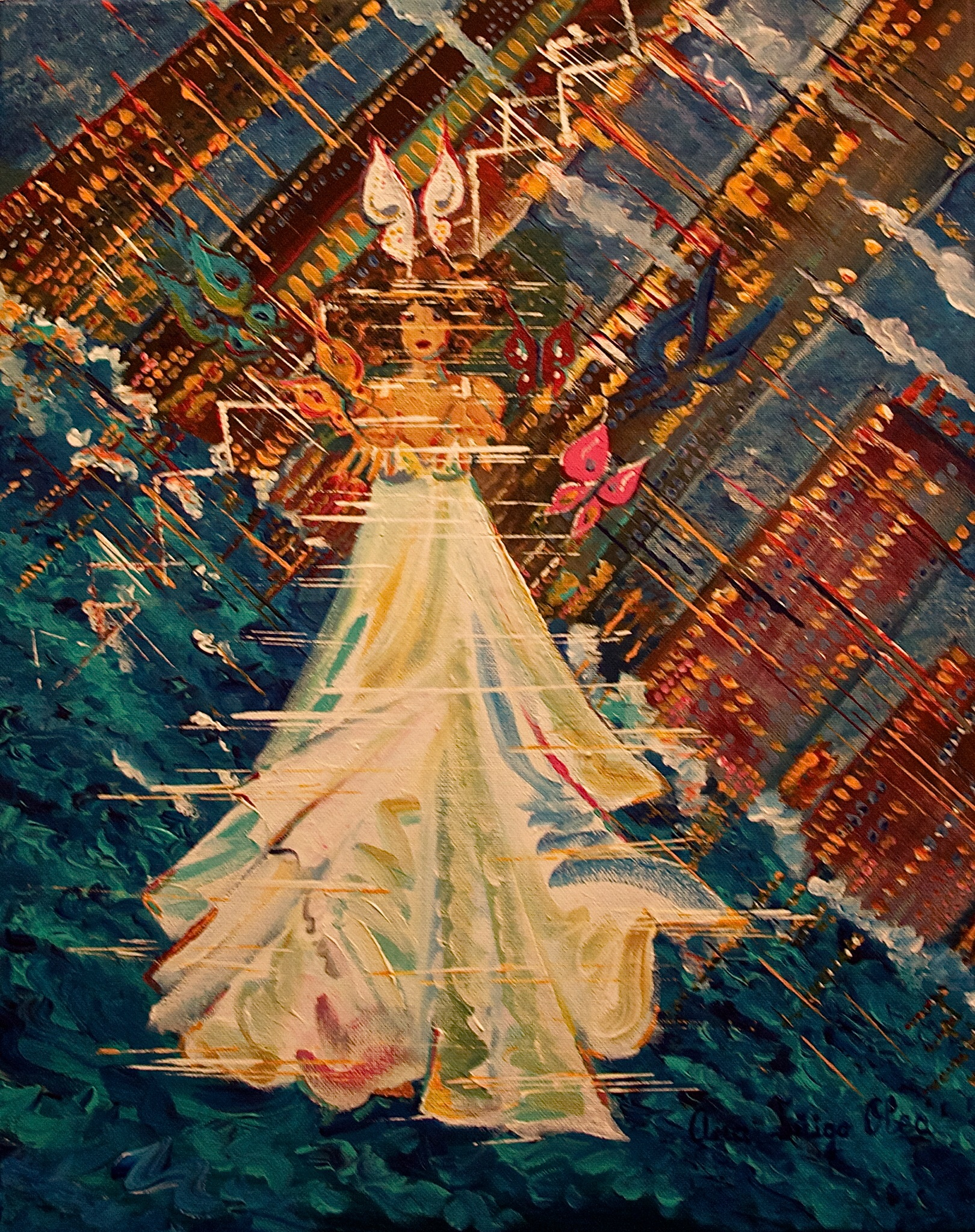 seeking reality.  2011. Hong Kong  70x50cm. Mixed media