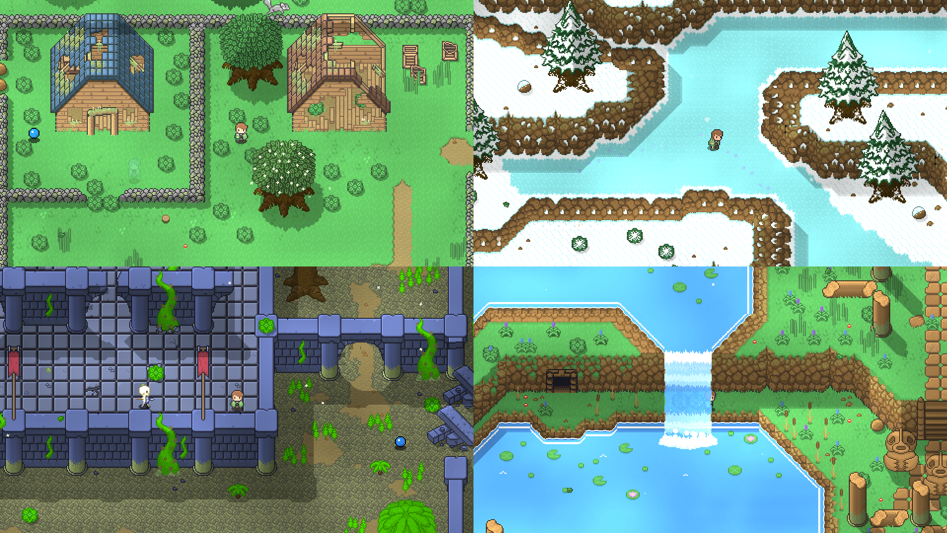 Some of the new overworld areas