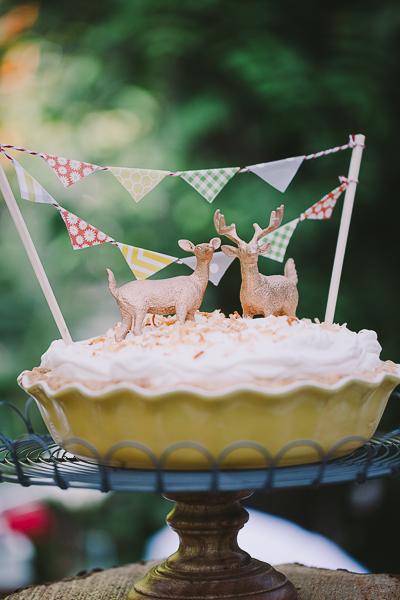 A cake with deer figures on top - Sahara Coleman - Professional Wedding Photographer, Destination Photographer 2014 Seattle Washington