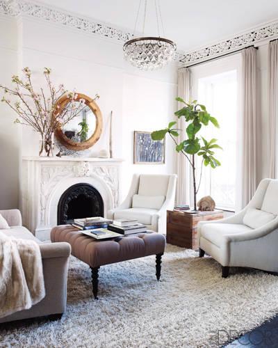 Keri Russell's home via Elle Decor