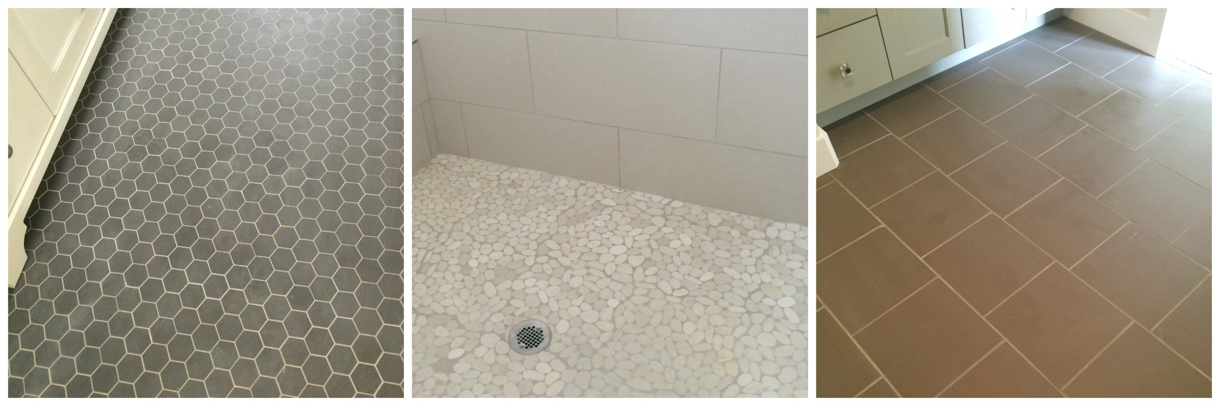 Unique tile in various colors and styles is installed throughout the home, yet each room must work together for a cohesive look.
