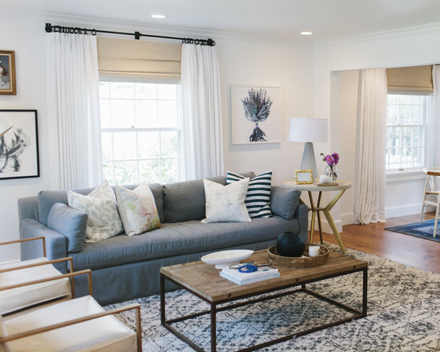 Studio Mcgee's design includes soft spring color, so the room feels fresh but subtle.