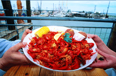 Seafood on the Kemah Boardwalk