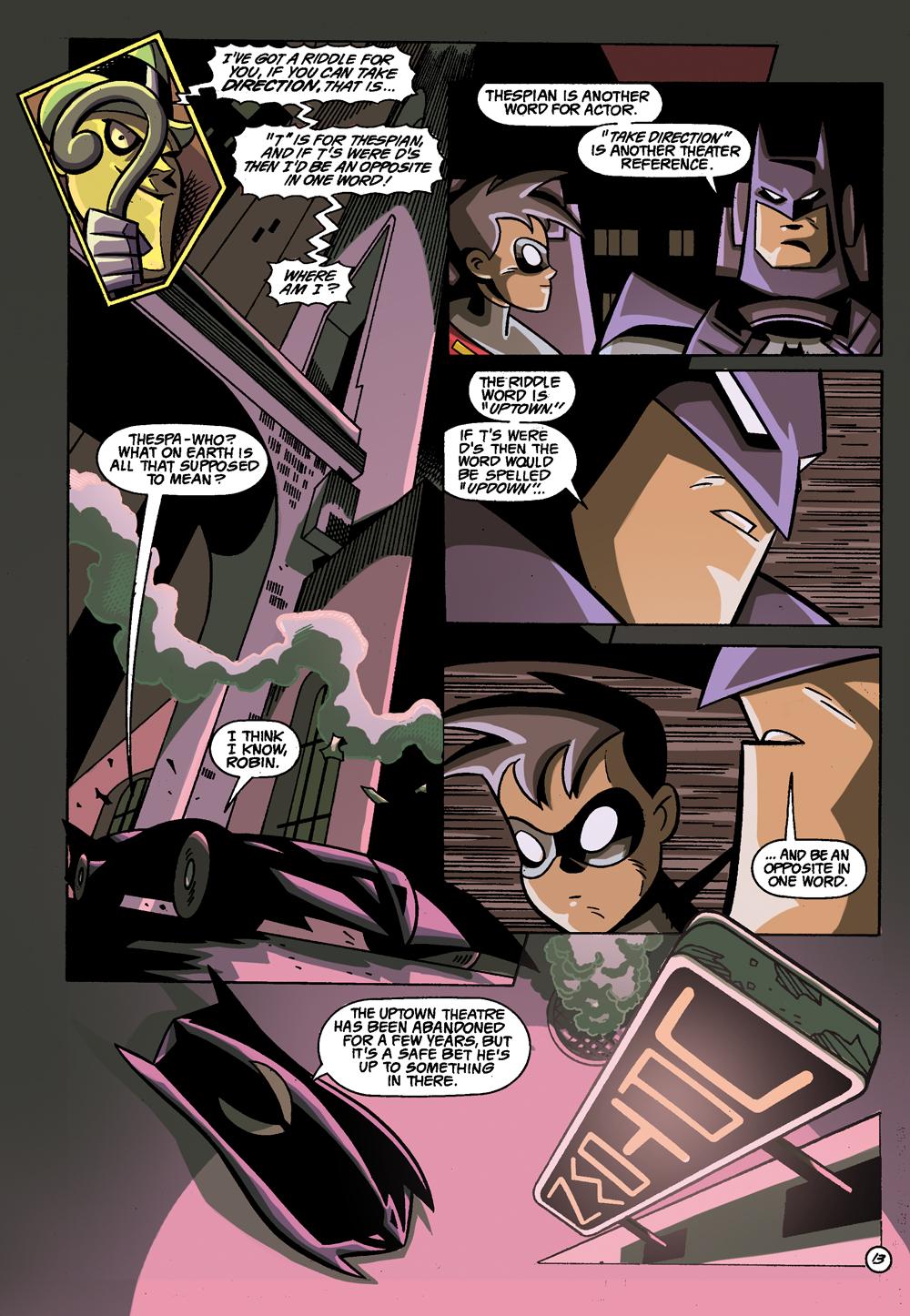 Batman: Gotham Adventures #1 Sample Page 1