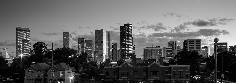 Five Points Night Denver Skyline