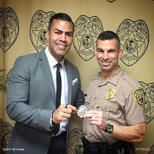 With my friend & honorary member of the #GCPD @JPerezinMia who serves the great people of @MiamiDadeCounty as Director of the @MiamiDadePD #Gotham