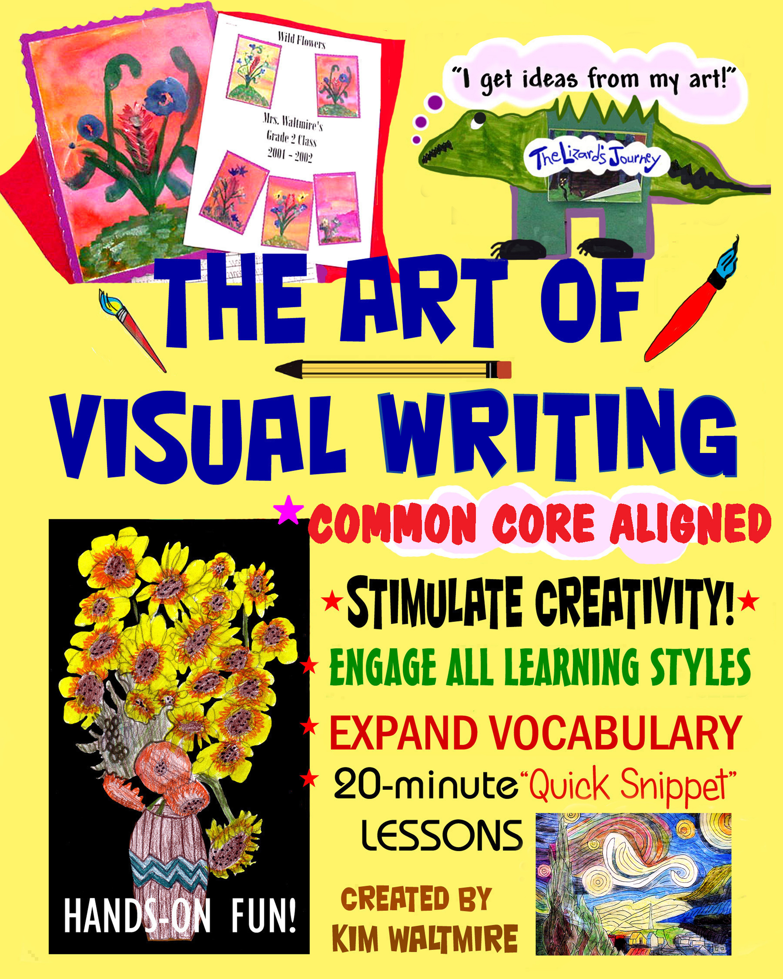 Purchase Visual Writing Strategies for Primary Grades K-3.  Written by Kim Waltmire.  *Cover designed by Lynn Rosenblatt