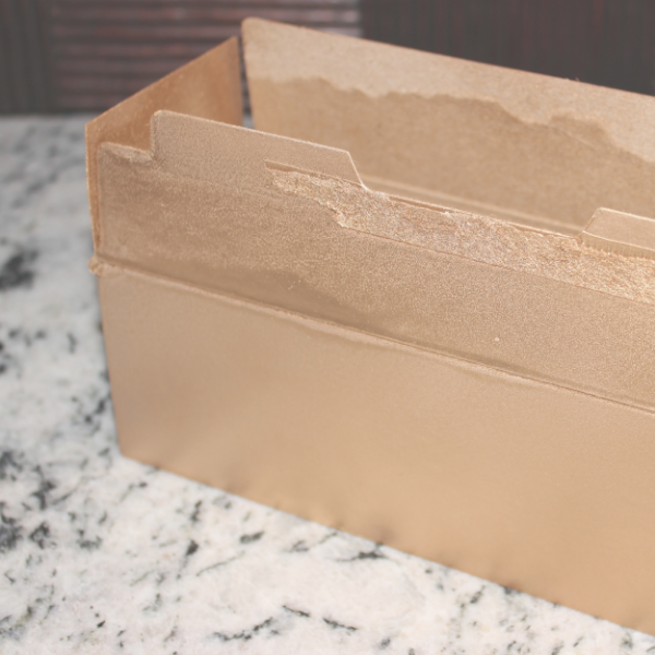 DIY Gold Box Organizers