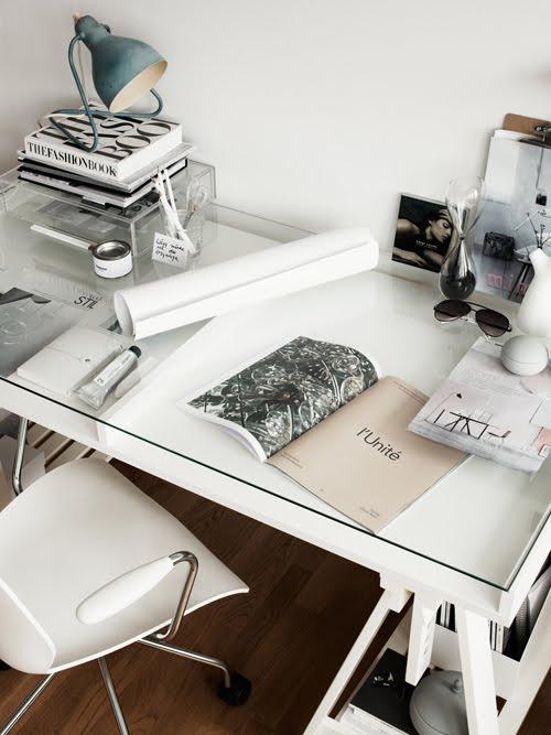 Small Home Office Design Ideas - Glass Desk