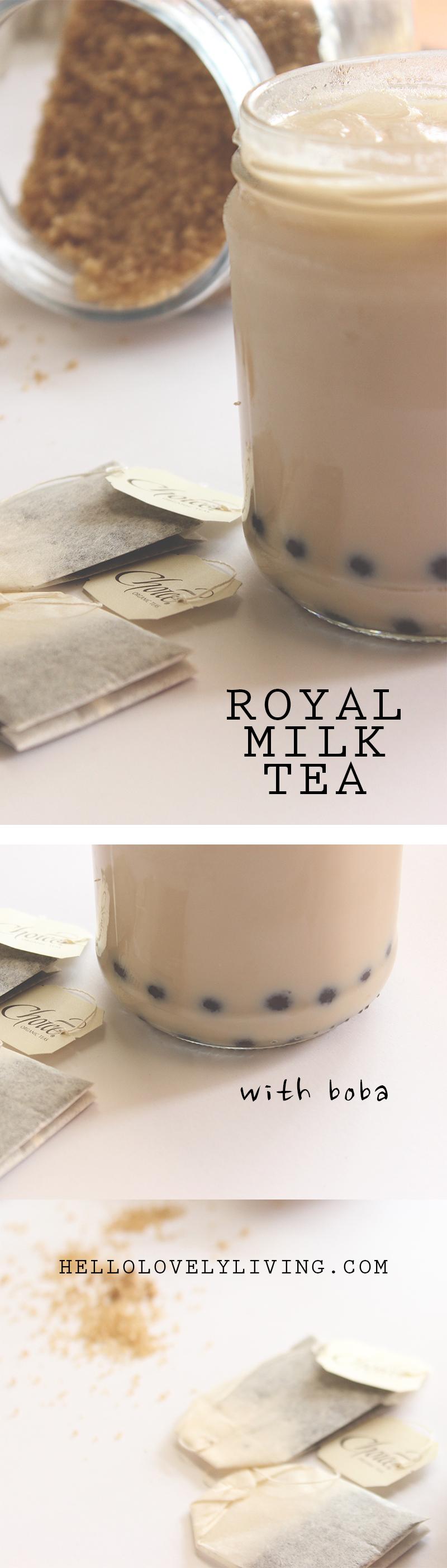 Royal Milk Tea with Boba
