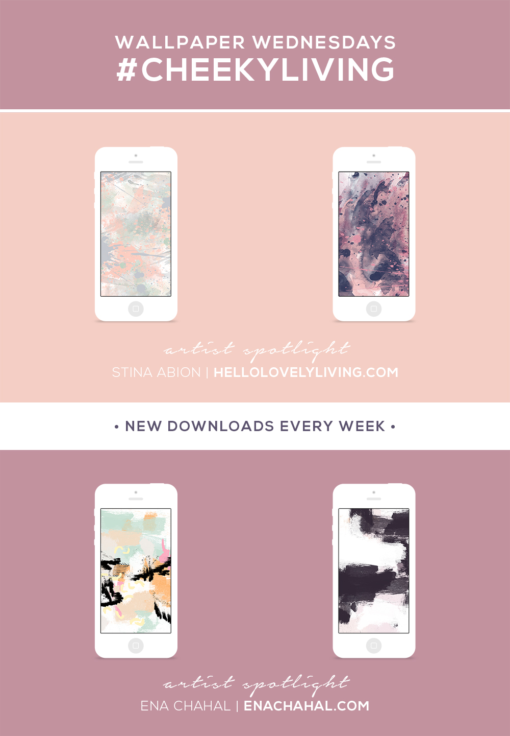 Wallpaper Wednesdays 10 | Abstract Pastels