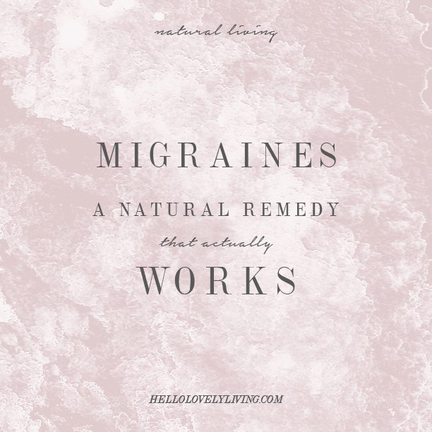 Migraines | A Natural Remedy That Actually Works