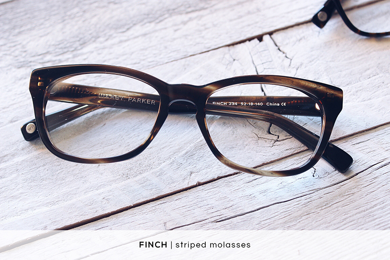 Warby Parker Finch - Striped Molasses | HelloLovelyLiving.com