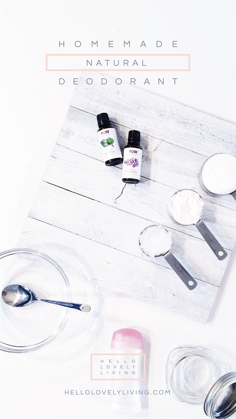The Most Effective Natural Deodorant Alternative + How To Make Deodorant