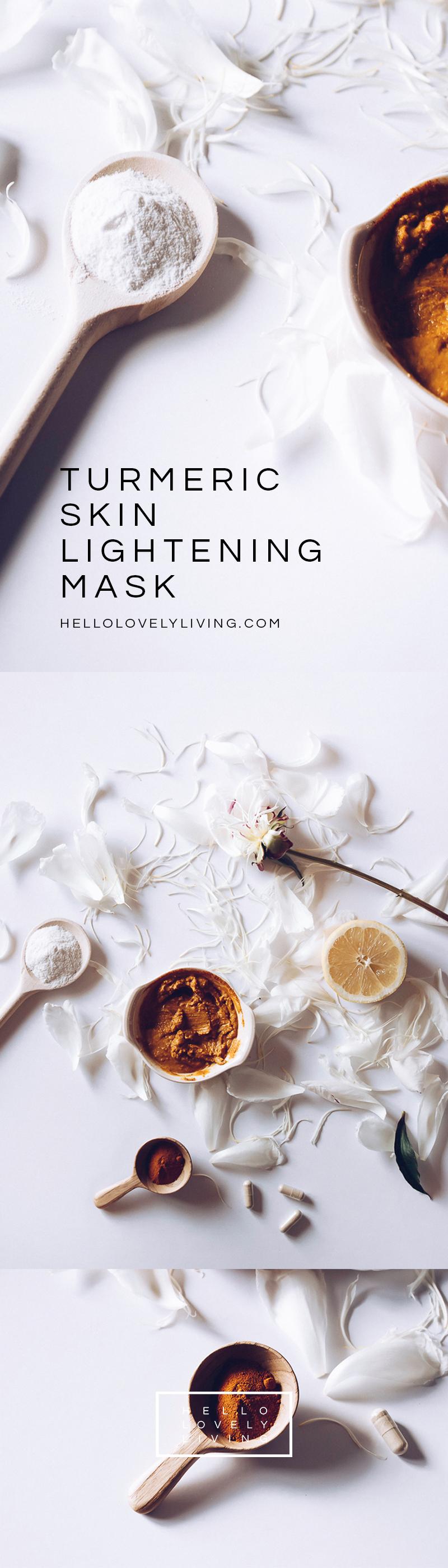 HELLOLOVELYLIVING.COM | DIY Turmeric Skin Lightening Mask