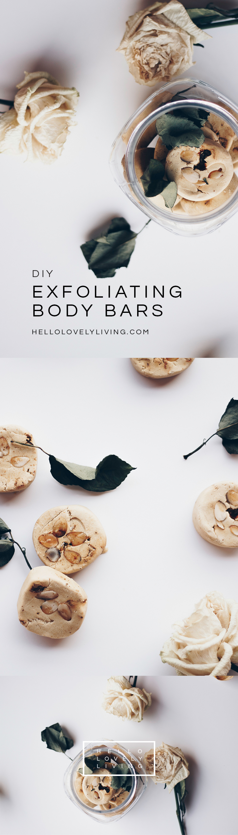 HelloLovelyLiving.com | DIY Exfoliating Body Bars