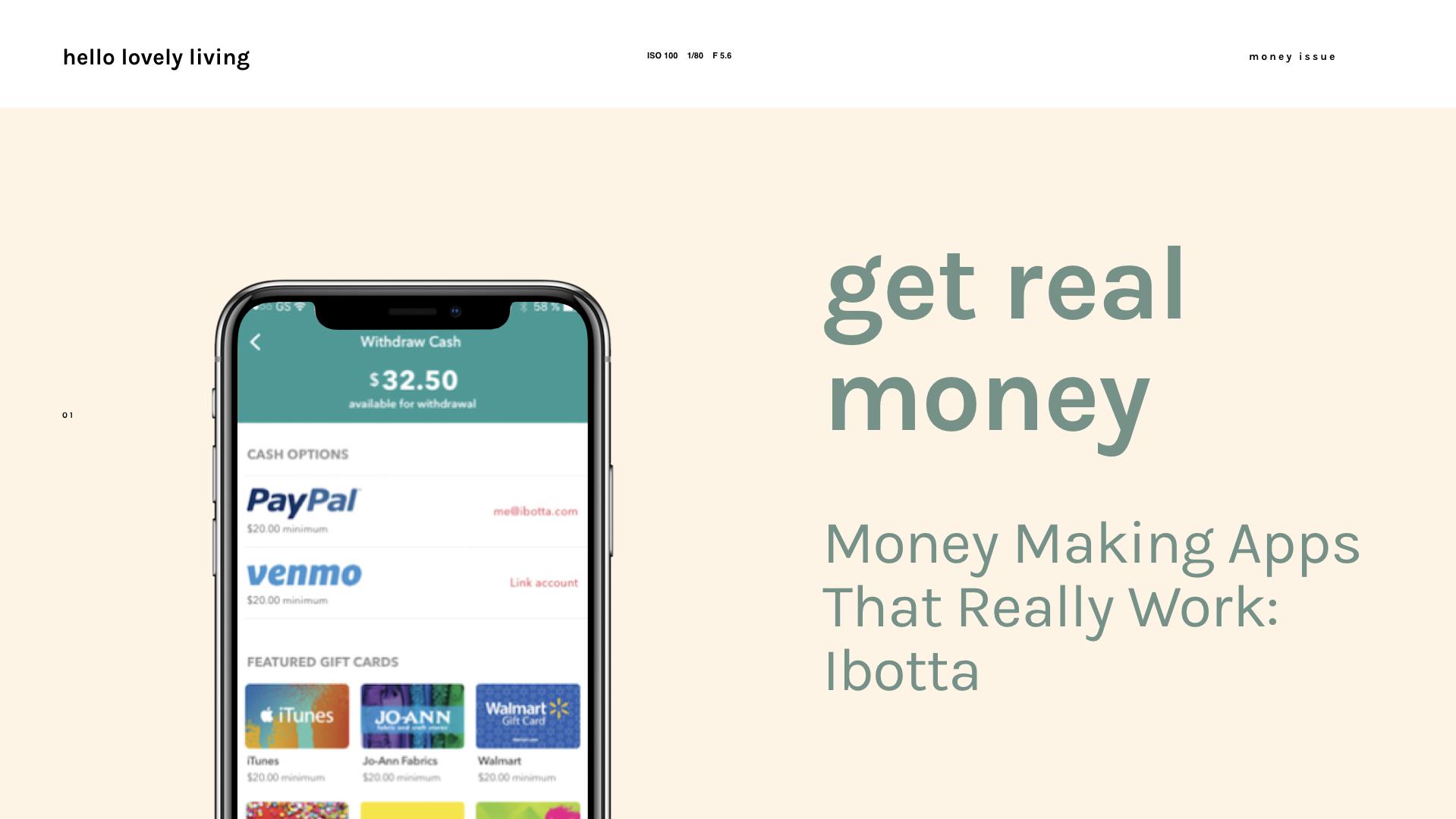 hellolovelyliving.com | Get Real Money | Money Making Apps That Really Work: Ibotta