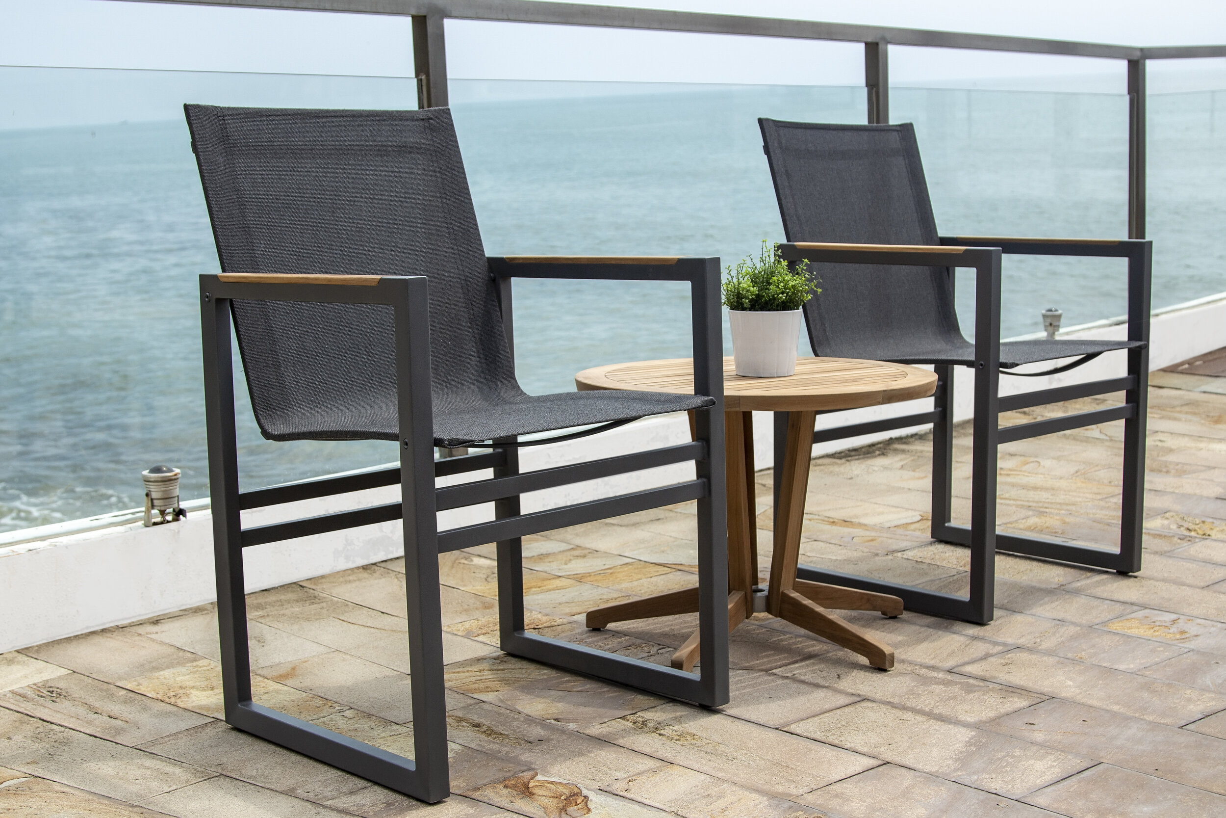 CUBE ALU DINING CHAIR, ANTHRACITE