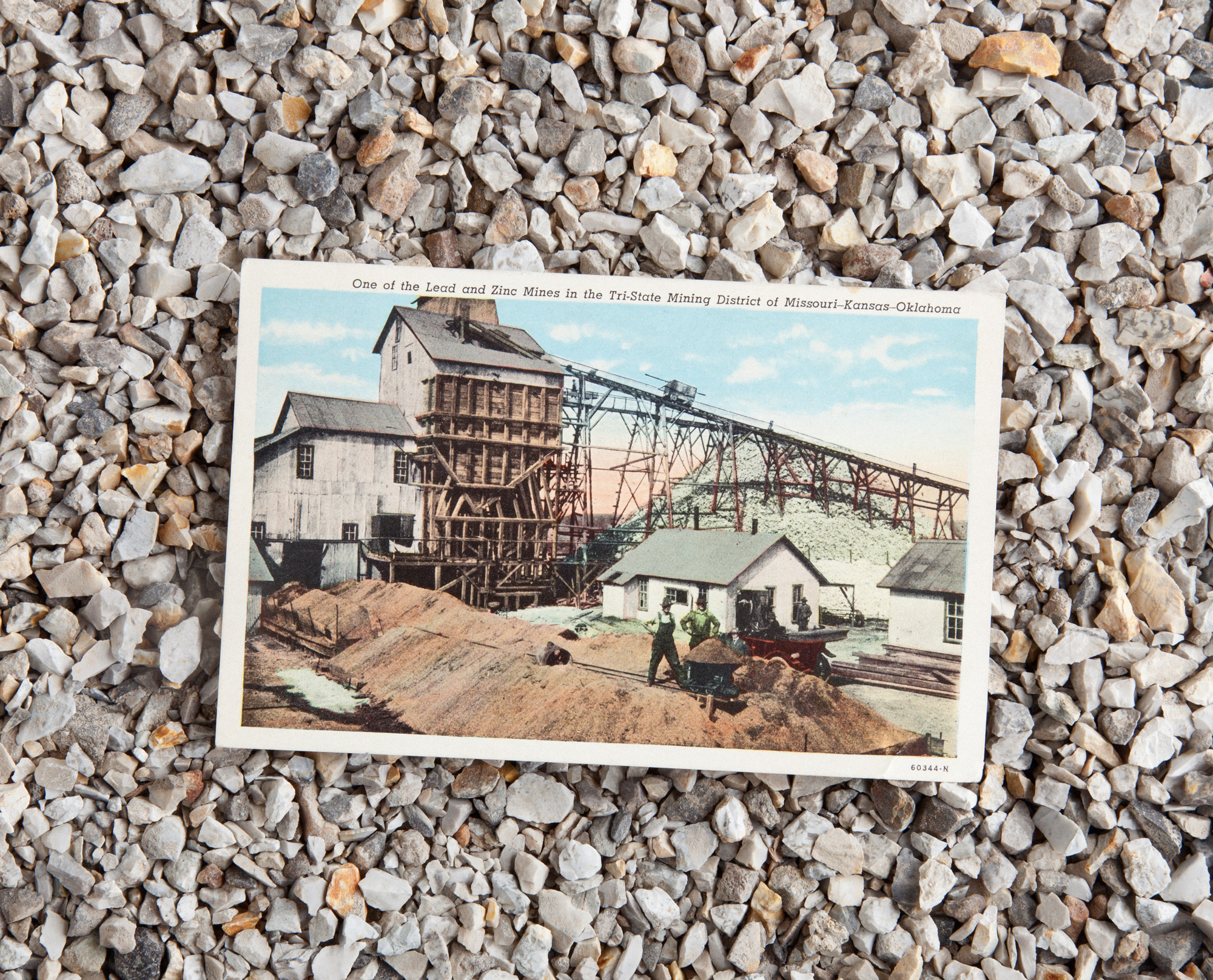 Mining Postcard, Mailed to Sgt. Addo H. Riker in 1952, 2012