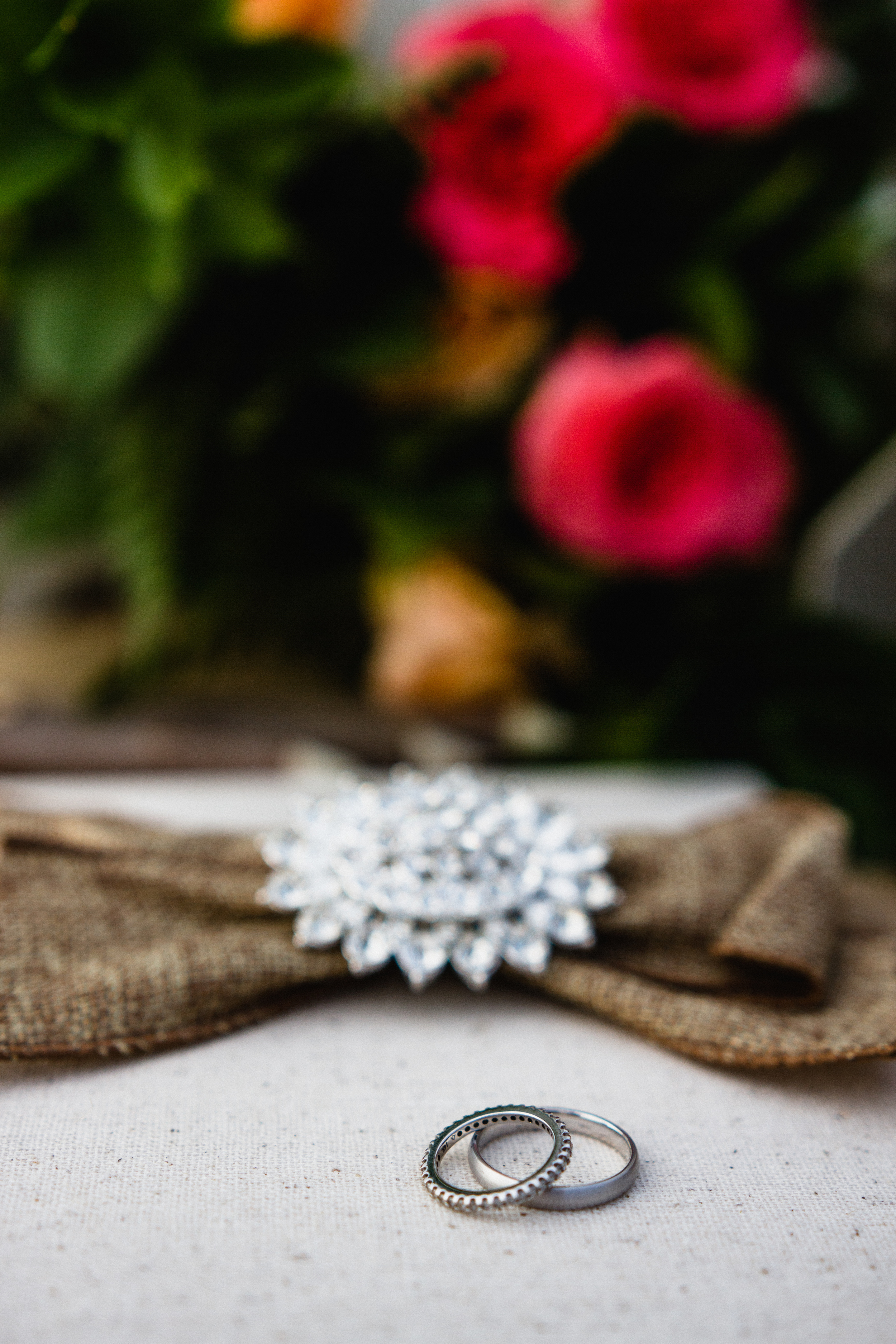 Wedding Rings with the guest book