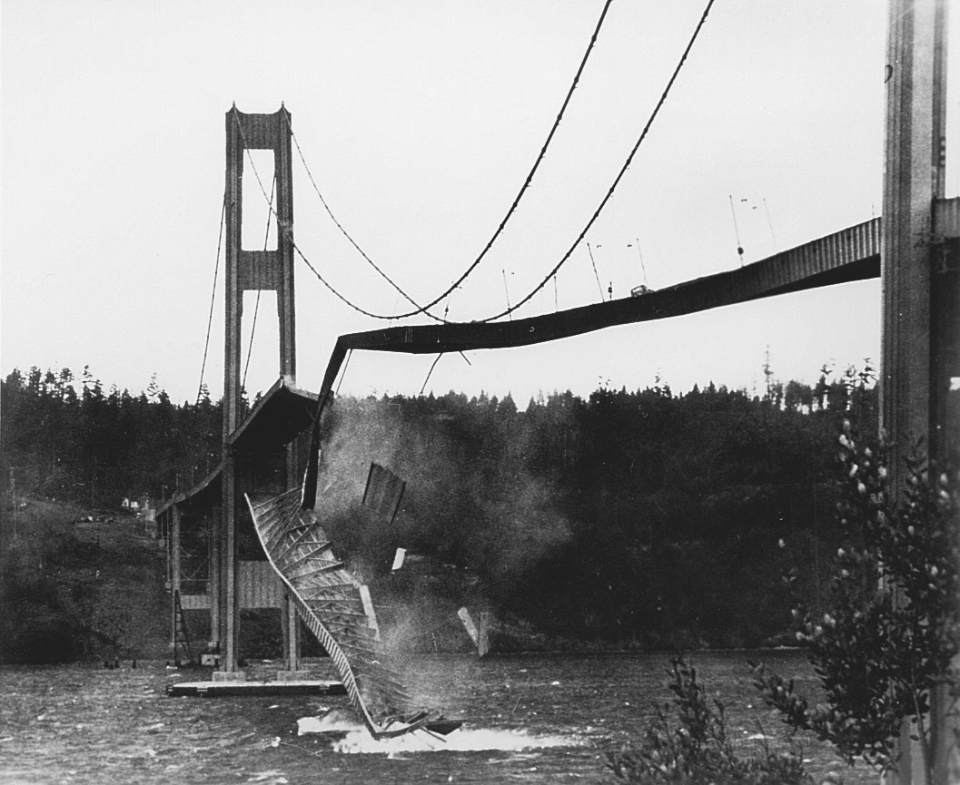 The Tacoma Narrows Bridge collapsed in 1940, violently illustrating the necessity for sound engineering that serves the public good.