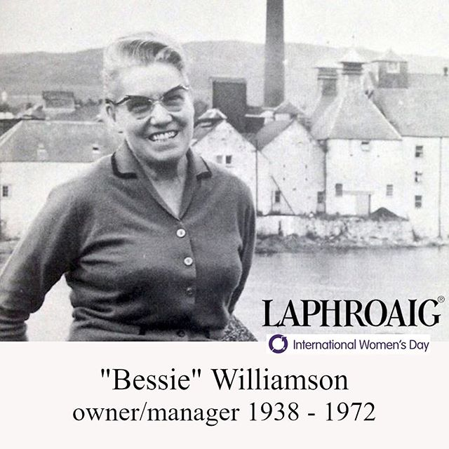 "A ""woman's drink"" is anything made by a woman or being drank by a woman, as drinks themselves are inanimate and genderless. In honor of International Women's day we Celebrate Elizabeth ""Bessie"" Williamson, the former manager and owner of the Laphroaig distillery who is noted for being the first woman to manage a Scotch whisky distillery during the 20th century. To learn more about Bessie, visit HawaiiBevGuide.com 🔗in Bio. ll 📸 Laphroaig #HawaiiBeverage #Laphroaig #Scotch #Whiskey  #internationalwomensday #cocktails #honolulu #islay #islands"