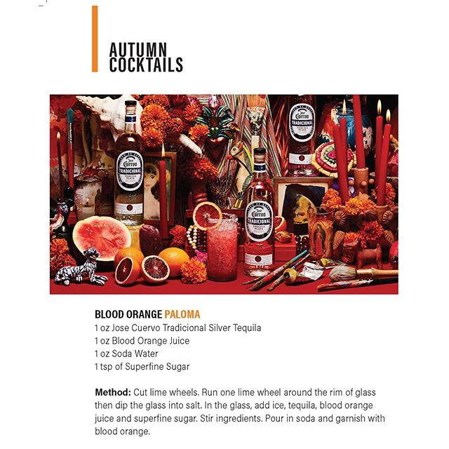 A #blood orange cocktail for your #Halloween Festivities featuring Jose Cuervo Tradicional  #hawaiibeverage #hawaii #cocktail #tequila #bar #DrinkResponsibly
