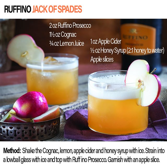Here's  Fall  cocktail for your #weekend #brunch needs.  This particular recipe features #prosecco from @Ruffinowines with some apple cider and cognac. #hawaiibeverage #applecider #cognac #cocktail #craftcocktail