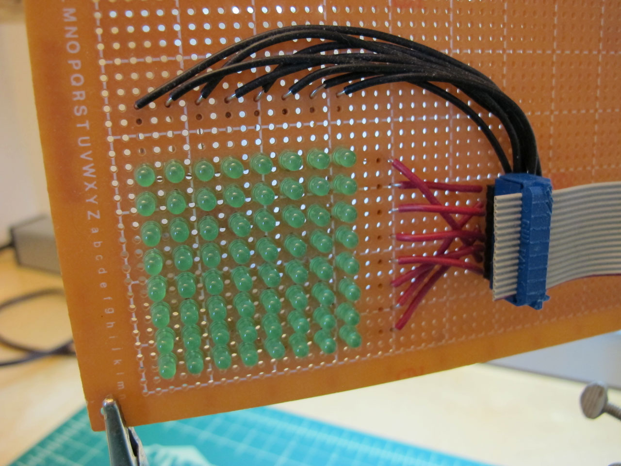 LED matrix front