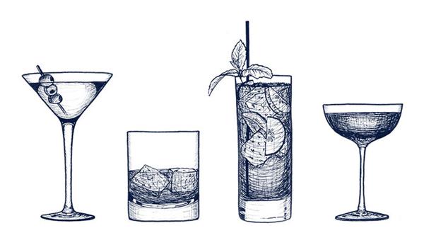 NeueHouse NYC  - menu illustrations
