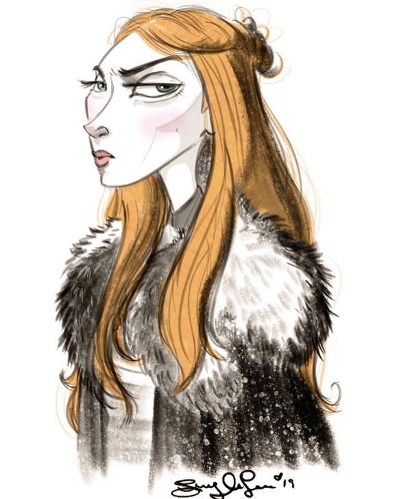 Judgy-judgy.  Sansa Stark's resting b*tch face 😒 #got #gotfanart #characterdesign #sansastark #rbf #sophieturner #sketch #girlswhodraw #gameofthrones #feelingcute