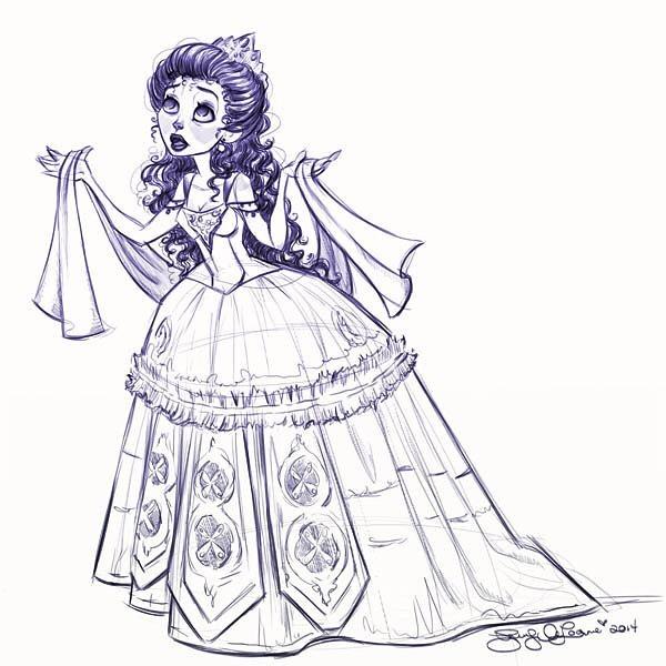 """Think of me"", #sketch circa 2014. #phantomoftheopera #thinkofme #characterdesign #costumedesign #costumesketch #animation #theatre"