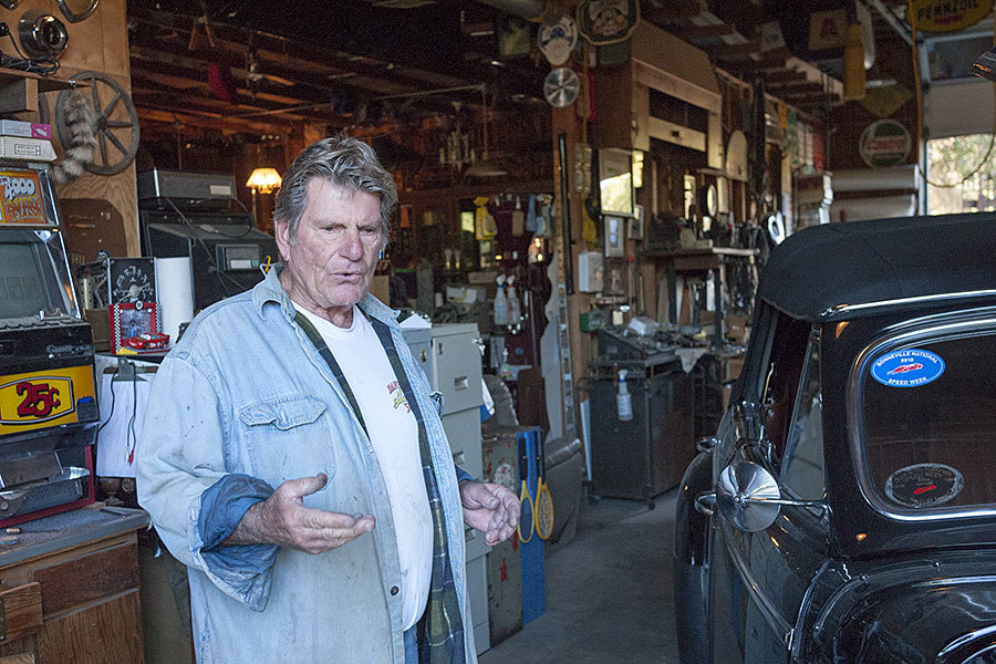 Russ in his St. Helena workshop.