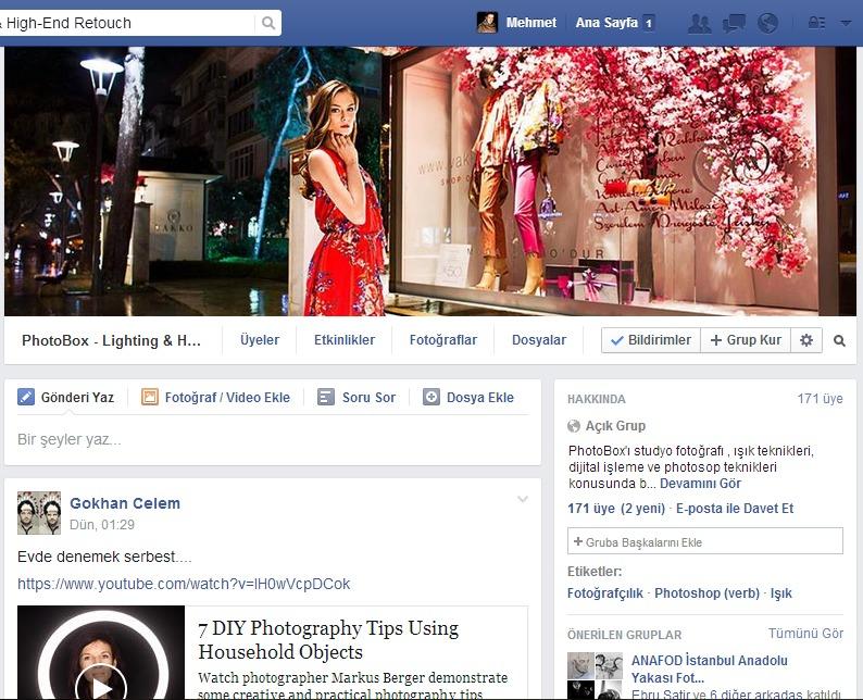 Photobox grup sayfası