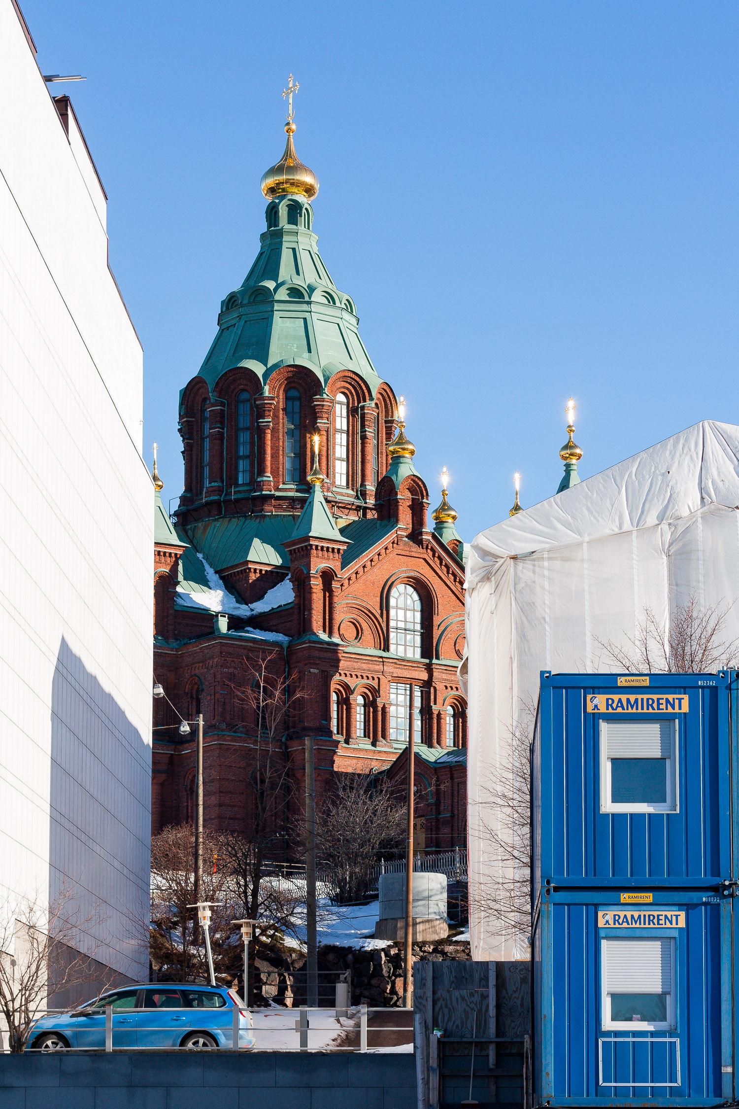 Uspenskin katedraali ja kolme sinistä. Asiakas: yksityishenkilö.