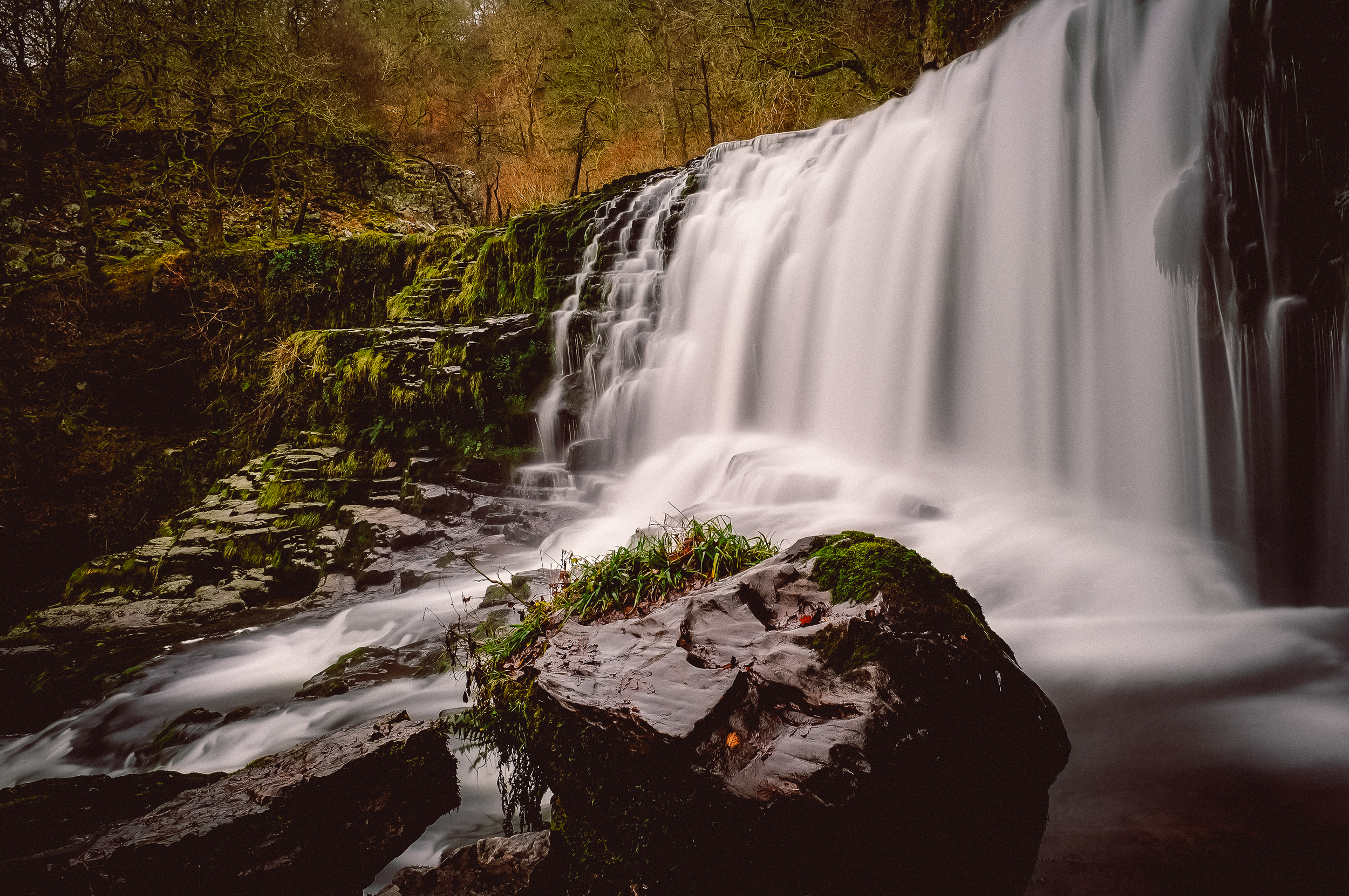 Waterfall walk, Ystradfellte, Wales.  Fuji X100 | F8 - 26sec -iso200 [+10 stop ND filter]