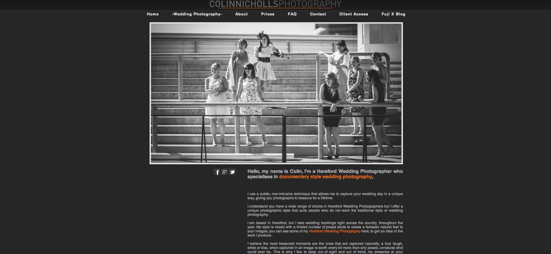 Zenfolio website, end of 2013.