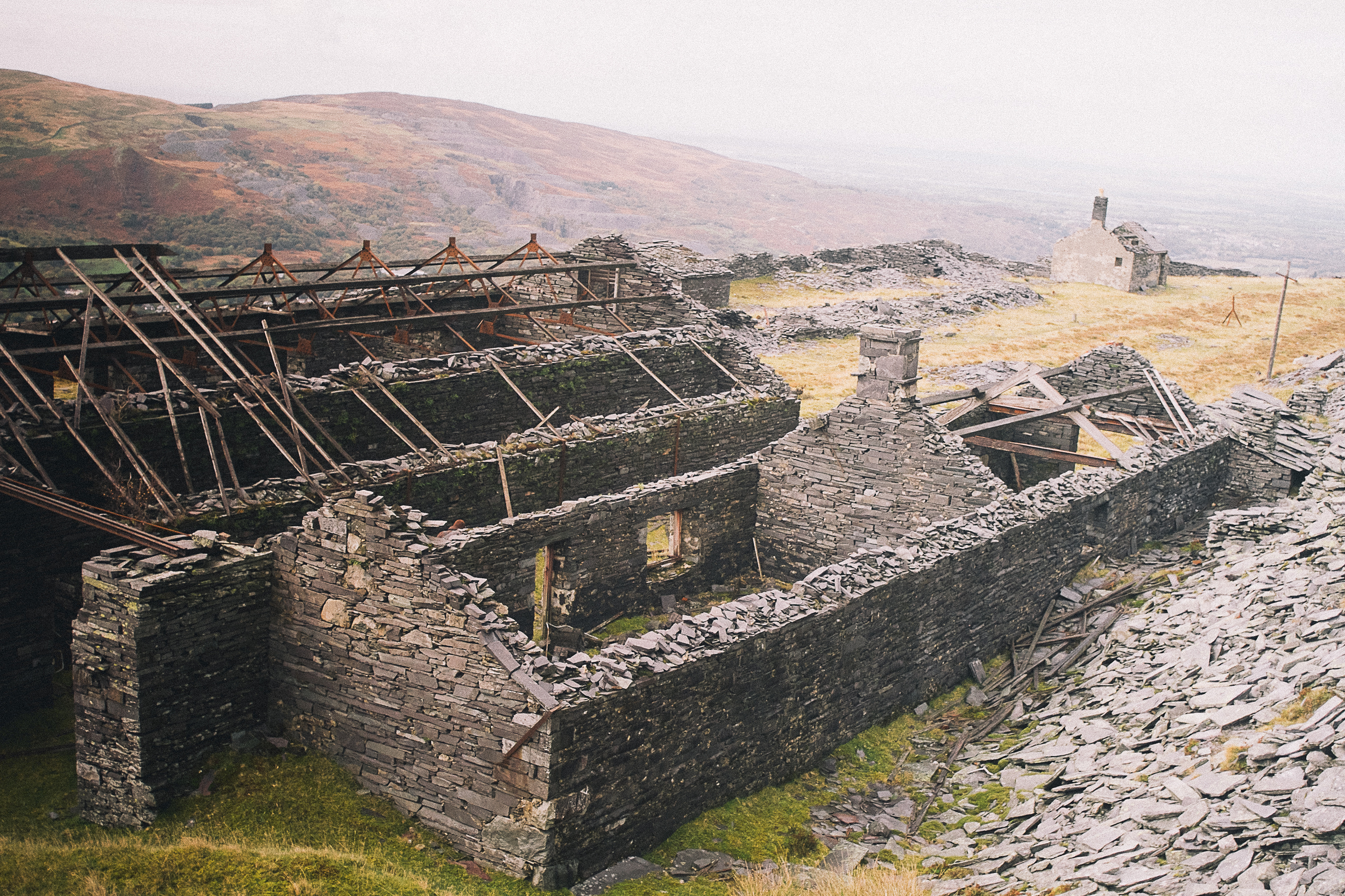 The Dinorwic slate quarry in North Wales - worth the epic walk up there.