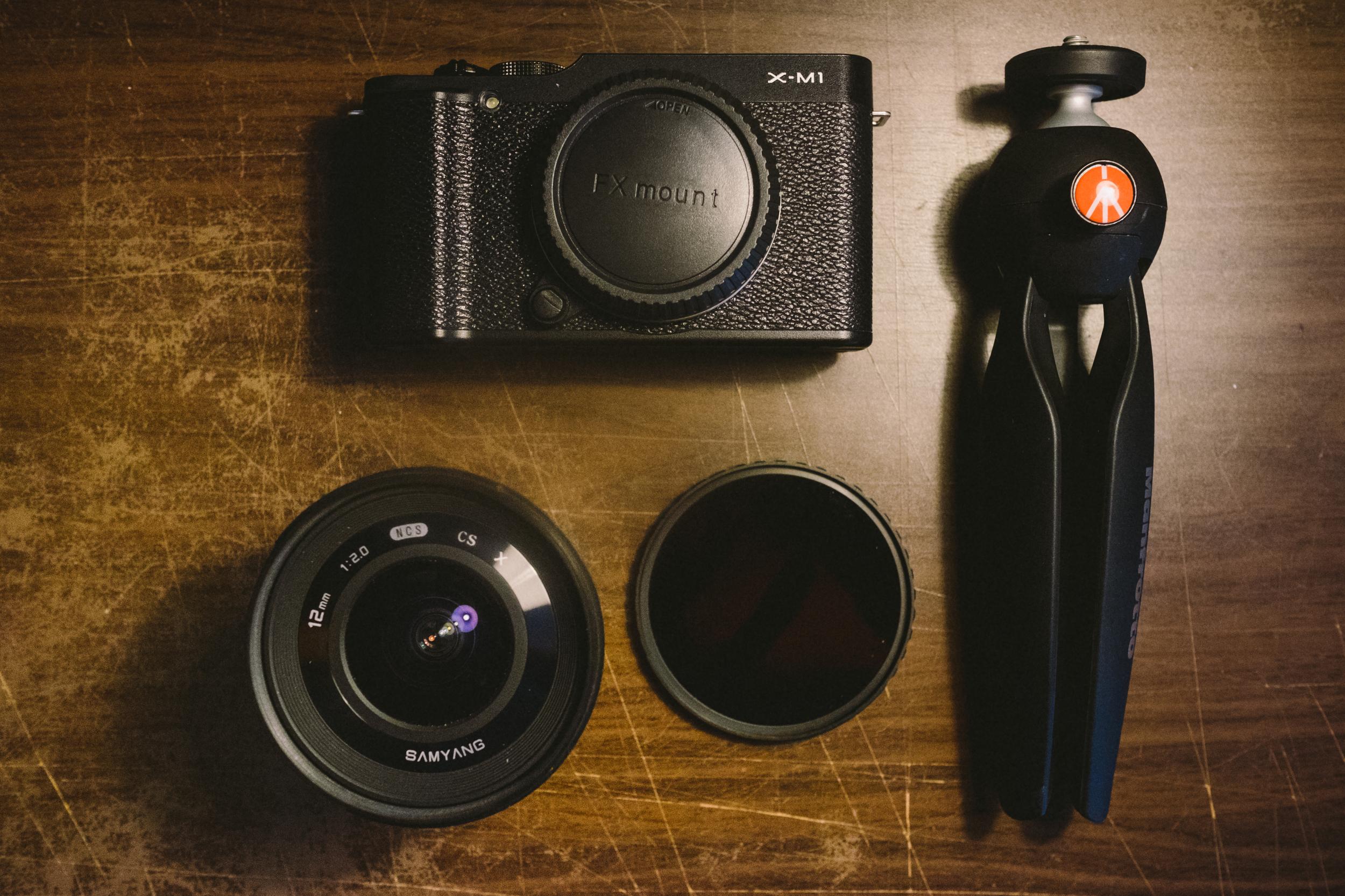 Fuji X-M1 + Samyang 12mm + 10 Stop ND + Pixi