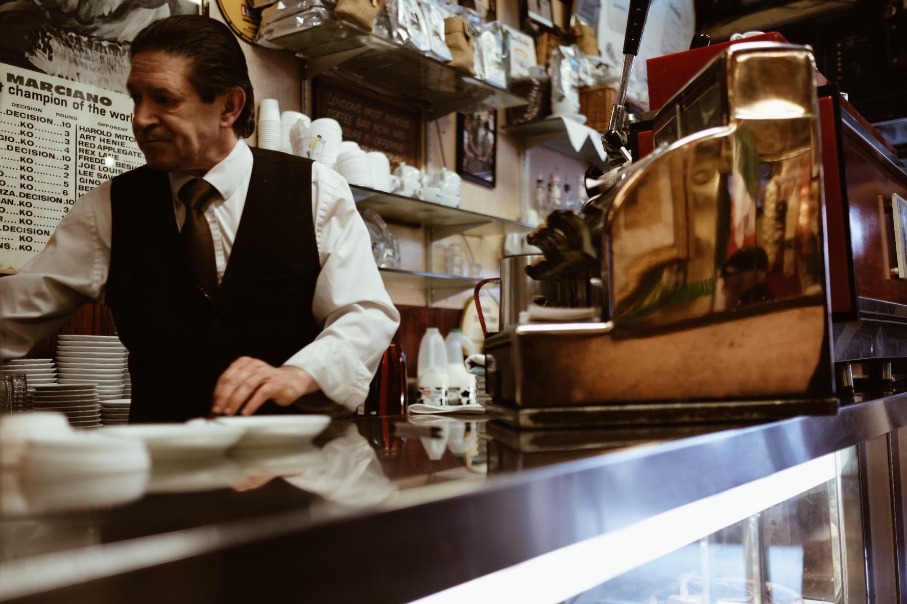 Got taken to this wonderful Italian coffee shop in Soho.