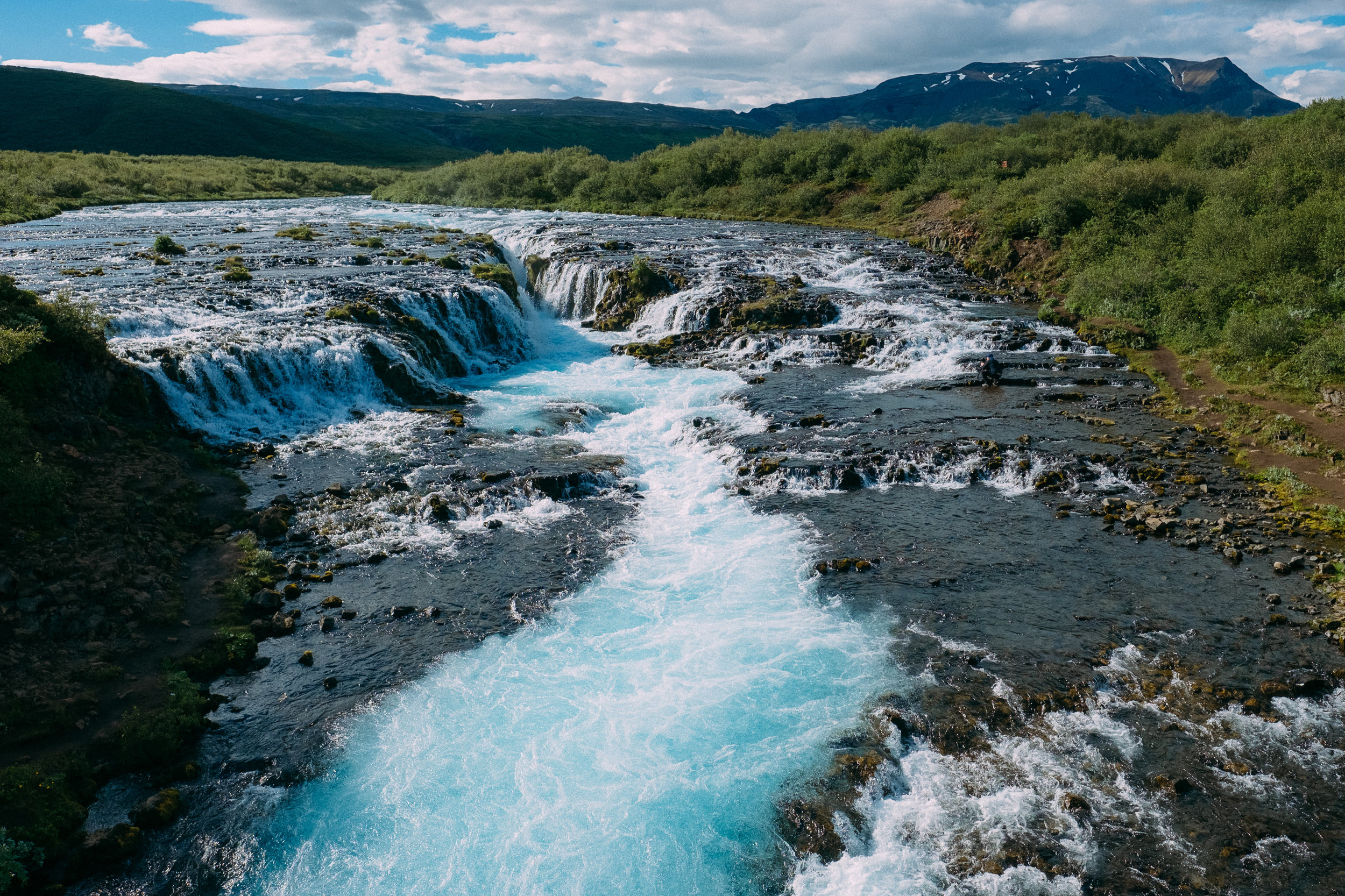Bruarfoss Waterfall -  [64.25061,-20.5344794]  Fuji X-H1 + 16mm 1.4 lens