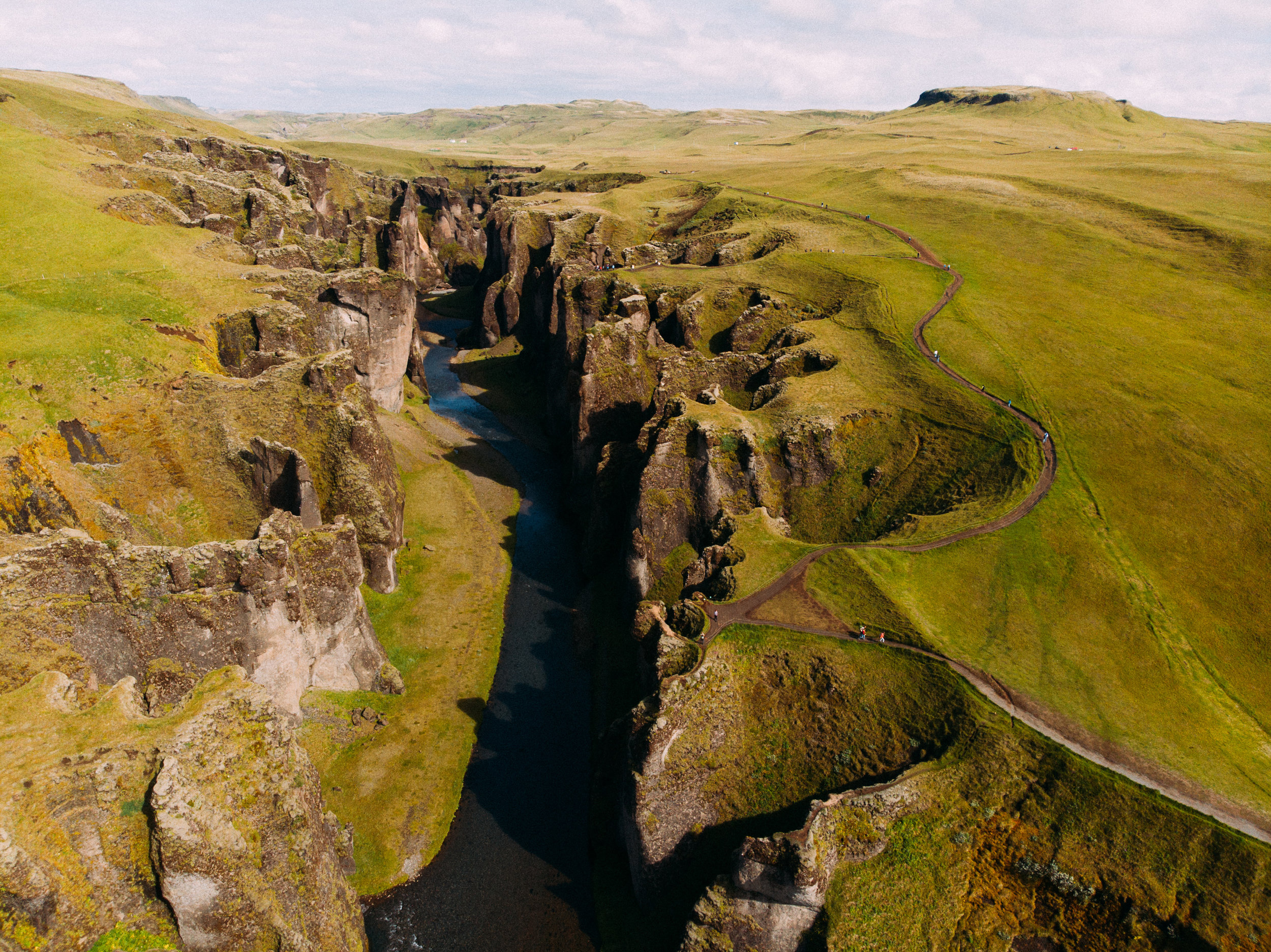 Fjaðrárgljúfur - [ 63.6736749,-18.4691622]  DJI Mavic Air Drone