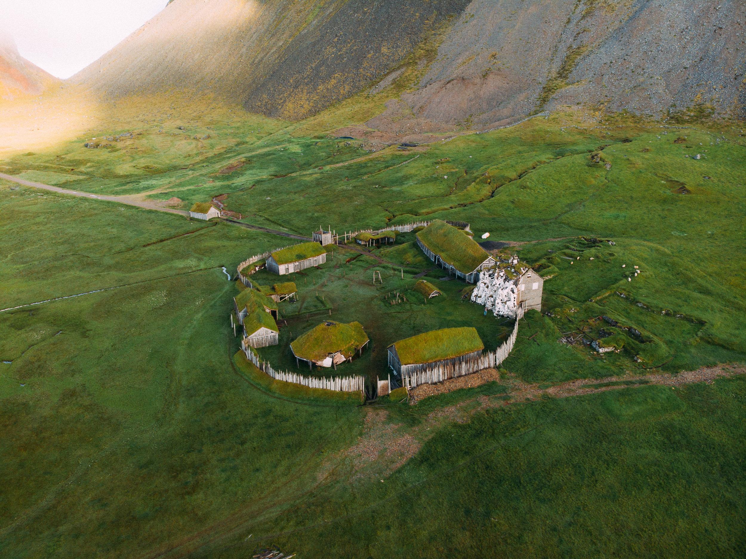 Viking Village -  [64.2586105,-15.0942715] -  DJI Mavic Air Drone