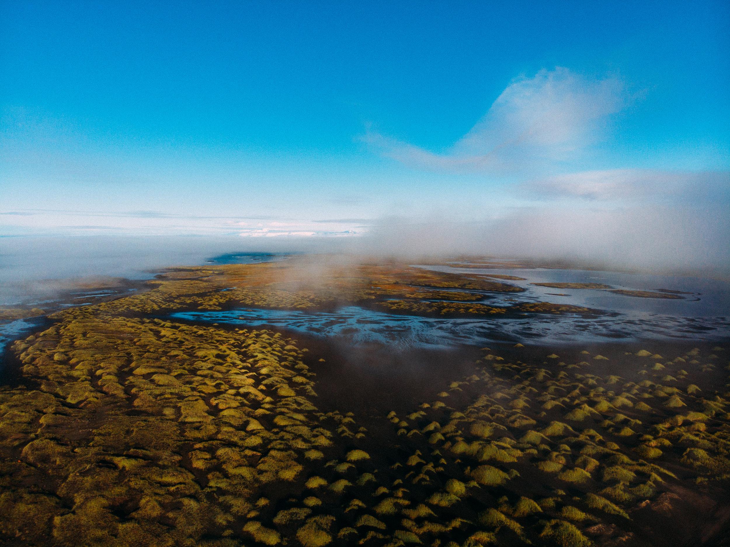Grass tussocks on Stokksnes -  DJI Mavic Air Drone