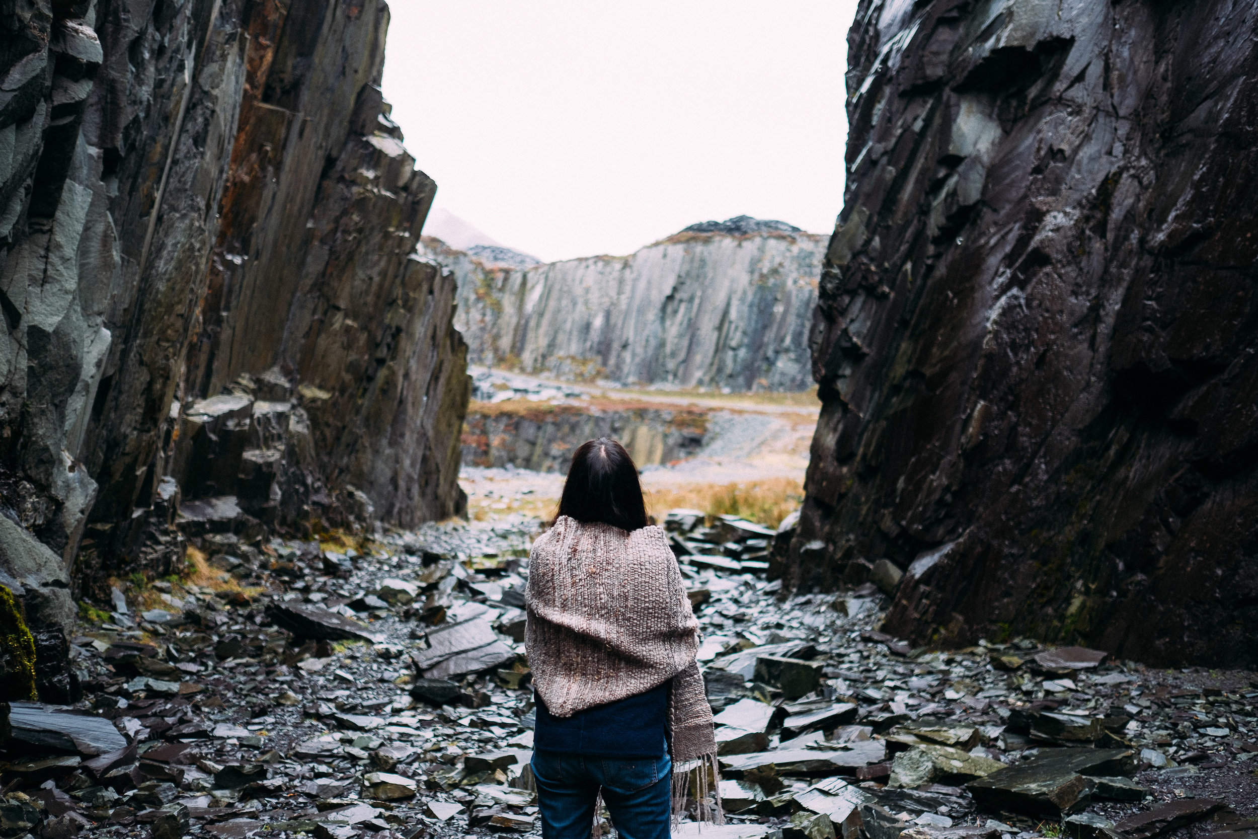 Shooting for Ernest issue 8 in the Dinorwic slate quarry.