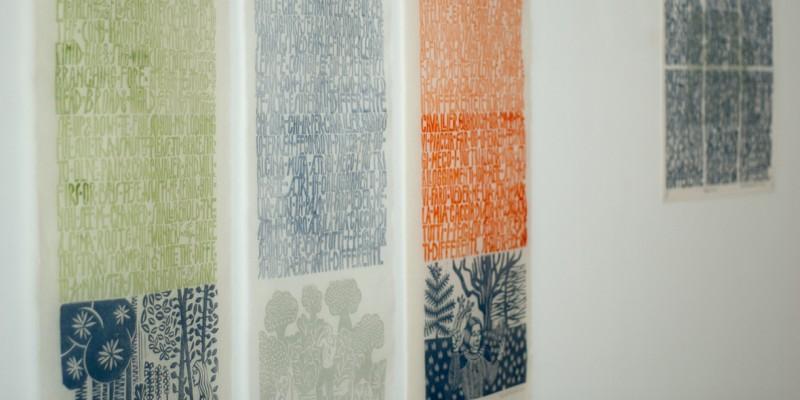Desde el proyecto de Orlando, pósters de grande y mediano formato, imprimidos en papel japonés Kozo.